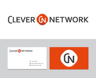 Logotipo inteligente da rede ilustração royalty free