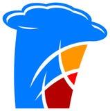 Logotipo internacional da culinária Fotografia de Stock Royalty Free