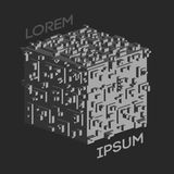Logotipo isométrico abstracto del cubo Ilustración del vector Icono aislado Elemento del diseño Fotografía de archivo libre de regalías