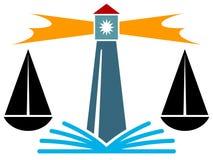 Logotipo judicial Imagen de archivo libre de regalías