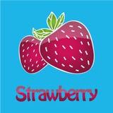 Logotipo jugoso de la fresa stock de ilustración