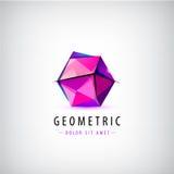 Logotipo lapidado vetor do origâmi Foto de Stock