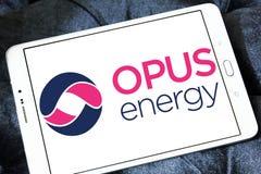 Logotipo limitado da energia do opus foto de stock