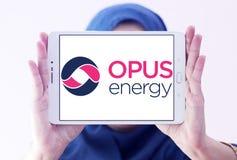 Logotipo limitado da energia do opus fotos de stock royalty free
