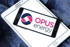 Logotipo limitado de la energía del opus Imágenes de archivo libres de regalías