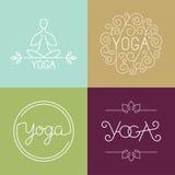 Logotipo linear de la yoga del vector Fotografía de archivo