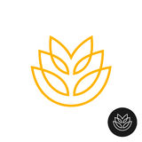 Logotipo linear del estilo del oído del trigo ilustración del vector
