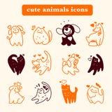 Logotipo liso do animal de estimação do vetor Imagem de Stock