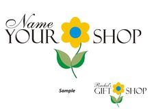Logotipo - loja de presente Imagem de Stock