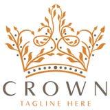 Logotipo luxuoso da coroa Imagem de Stock