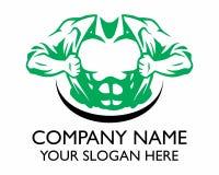 Logotipo más cest muscular Imagenes de archivo