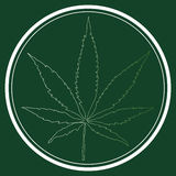 Logotipo médico da folha da marijuana Fotografia de Stock Royalty Free