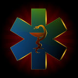 Logotipo médico da serpente Imagem de Stock