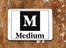 Logotipo médio do Web site imagem de stock