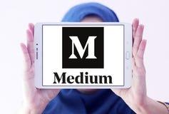 Logotipo médio do Web site imagem de stock royalty free