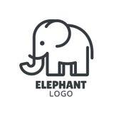 Logotipo mínimo del elefante ilustración del vector