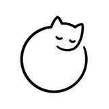 Logotipo mínimo del gato stock de ilustración