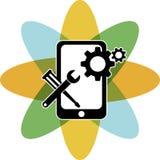 Logotipo móvil de la reparación ilustración del vector