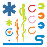 Logotipo médico Fotos de Stock Royalty Free