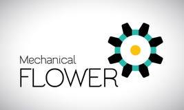Logotipo mecánico de la flor Imágenes de archivo libres de regalías