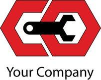 Logotipo mecánico simple Imagen de archivo libre de regalías