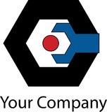 Logotipo mecânico simples Foto de Stock Royalty Free