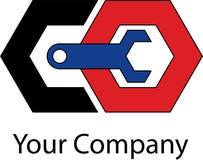Logotipo mecânico simples Imagens de Stock Royalty Free