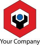 Logotipo mecânico simples Imagem de Stock