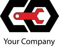 Logotipo mecânico simples Fotos de Stock Royalty Free