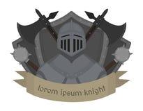 Logotipo medieval do cavaleiro cor Foto de Stock