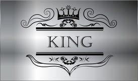 Logotipo metálico Imágenes de archivo libres de regalías