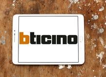 Logotipo metalúrgico de la compañía de Bticino imágenes de archivo libres de regalías