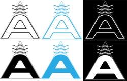 Logotipo minimalista sagrado da letra A do geometria-ar Fotografia de Stock