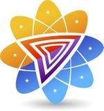 Logotipo à moda da flor Fotografia de Stock Royalty Free