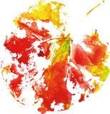 Logotipo moderno creativo de la hoja del árbol del eco pintado en acuarela libre illustration