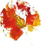 Logotipo moderno creativo de la hoja del árbol del eco pintado en acuarela ilustración del vector