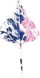 Logotipo moderno criativo da folha da árvore do eco pintado na aquarela ilustração stock
