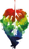 Logotipo moderno criativo da folha da árvore do eco pintado na aquarela ilustração royalty free