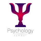Logotipo moderno da psicologia psi Estilo creativo Logotype no vetor ilustração stock