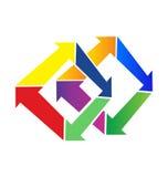 Logotipo moderno de las flechas geométricas Foto de archivo