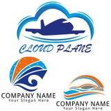 Logotipo moderno del concepto del viaje Foto de archivo libre de regalías