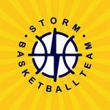 Logotipo moderno do basquetebol profissional para a equipe de esporte Imagens de Stock Royalty Free