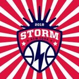 Logotipo moderno do basquetebol profissional para a equipe de esporte Fotos de Stock Royalty Free