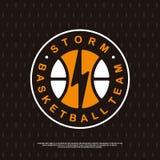 Logotipo moderno do basquetebol profissional para a equipe de esporte Fotos de Stock