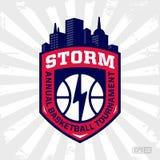 Logotipo moderno do basquetebol profissional para a equipe de esporte Fotografia de Stock Royalty Free