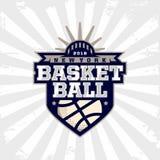 Logotipo moderno do basquetebol profissional para a equipe de esporte Foto de Stock