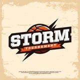 Logotipo moderno do basquetebol profissional para a equipe de esporte Imagens de Stock