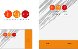 Logotipo moderno do seguro, cartão, inseto Fotografia de Stock Royalty Free