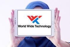 Logotipo mundial de la compañía de la tecnología imagen de archivo