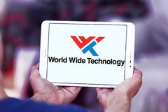 Logotipo mundial de la compañía de la tecnología imágenes de archivo libres de regalías
